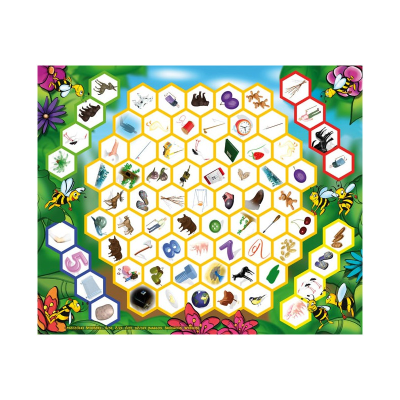 Logopedyczne gry planszowe - Pszczółki Śpioszki i Zamek Strachów