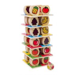 Owocowa wieża. Klocki edukacyjne