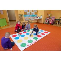 Mega gra edukacyjna Twister 140 x 220 cm