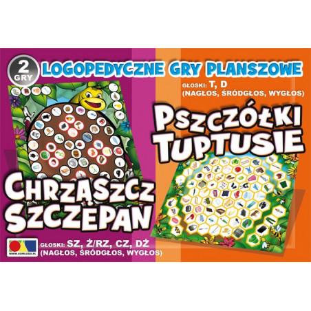 Logopedyczne gry planszowe - Chrząszcz Szczepan i Pszczółki Tuptusie