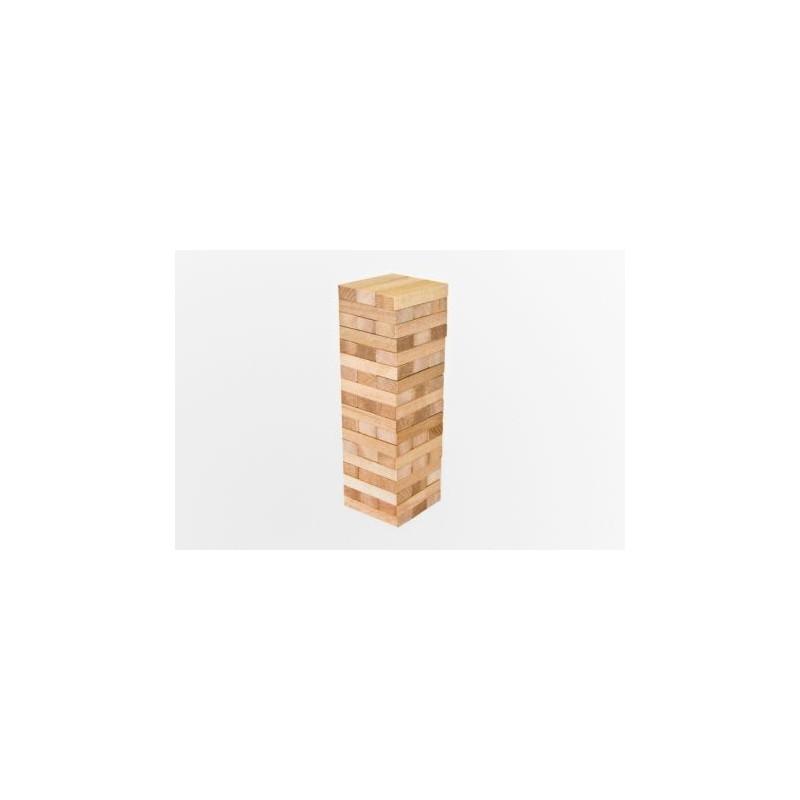 Magiczna wieża drewniana naturalna. Klocki drewniane