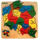 Drewniane puzzle Mapa Polski