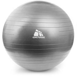 Piłka gimnastyczna do ćwiczeń 85 cm z pompką srebrna