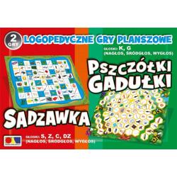 Logopedyczne gry planszowe - Sadzawka i Pszczółki Gadułki