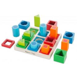 Pomoc sensoryczna, sorter kształtów i dopasywanka. Pomoc 3 w 1