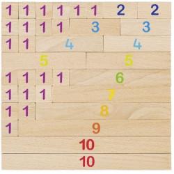 Drewniane klocki do nauki liczenia