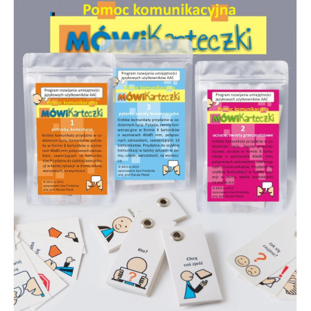 Karteczki MÓWik - pomoc komunikacyjna (komplet)