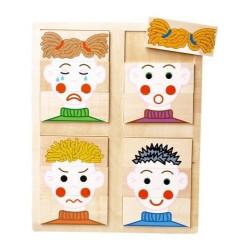 Puzzle - twarze (emocje). Pomoc psychologiczna