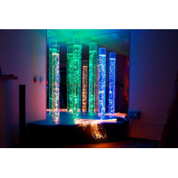 Zestaw trzech interaktywnych kolumn wodnych 190 x 15 cm