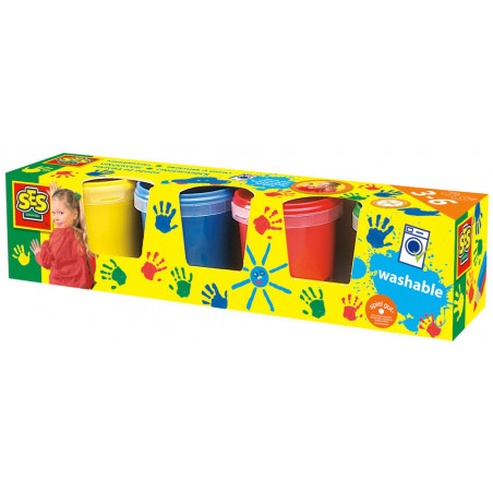 Farby do malowania palcami (4 kolory)