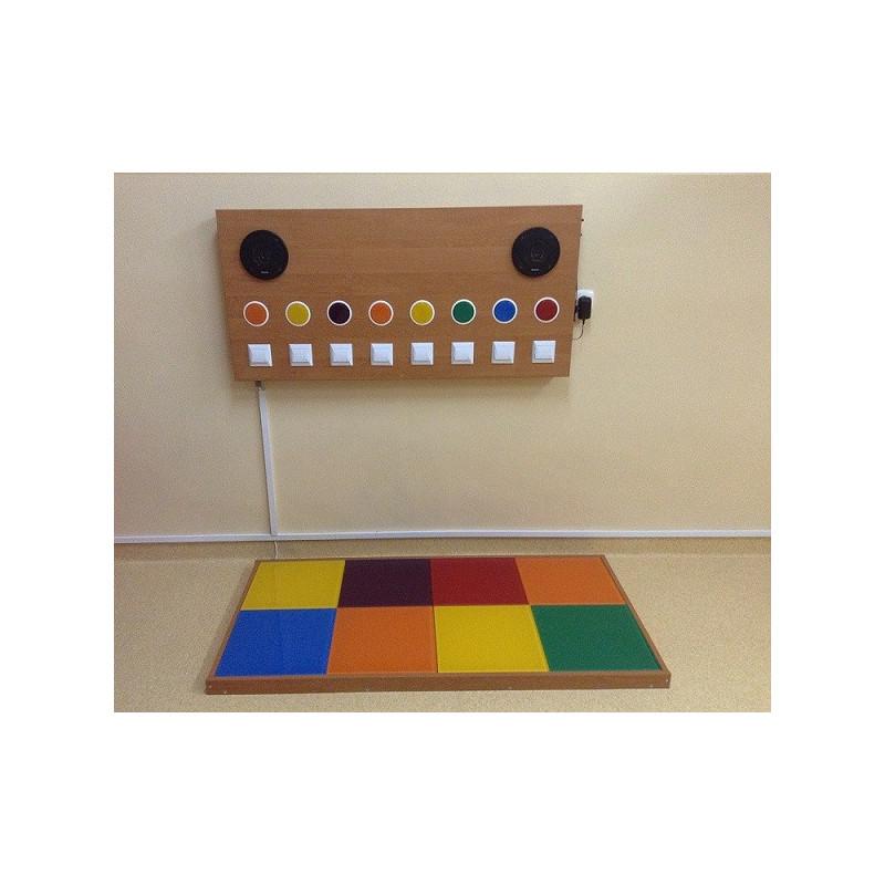 Zestaw świetlno-dźwiękowy (8 kolorowych pól)