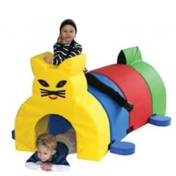 Piankowy tunel sensoryczny - kot