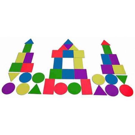 Zestaw piankowych figur geometrycznych