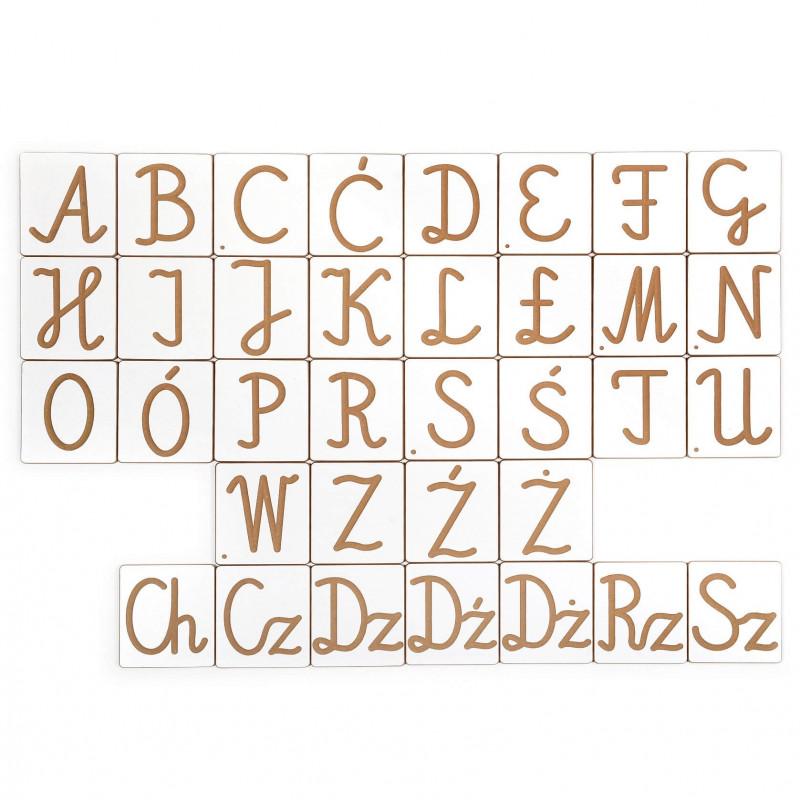 Alfabet pisany + cyferki