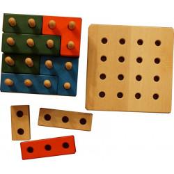 Jeżyk zestaw  41 elementów. Klocki manipulacyjne i zręcznościowe.
