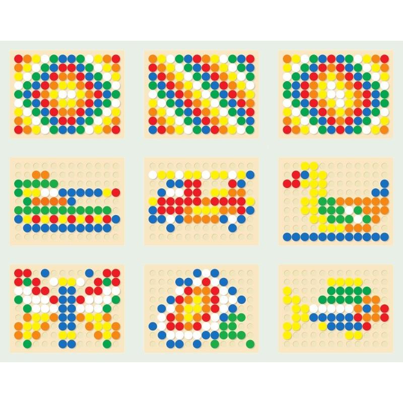 Kolorowa Kreatywna Mozaika Grzybki