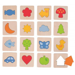 Memo dotykowe kształty (zestaw w wowreczku). Pomoc sensoryczna