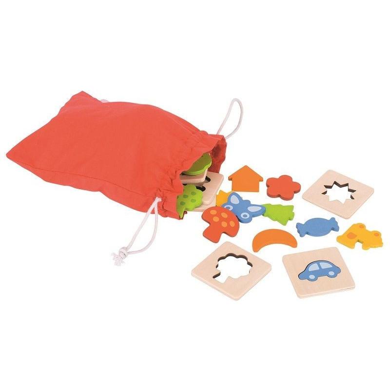 Memo dotykowe kształty (zestaw w woreczku). Pomoc sensoryczna