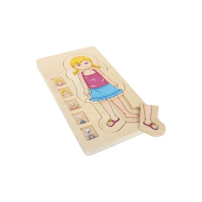 Drewniana układanka puzzle Anatomia dziewczynki