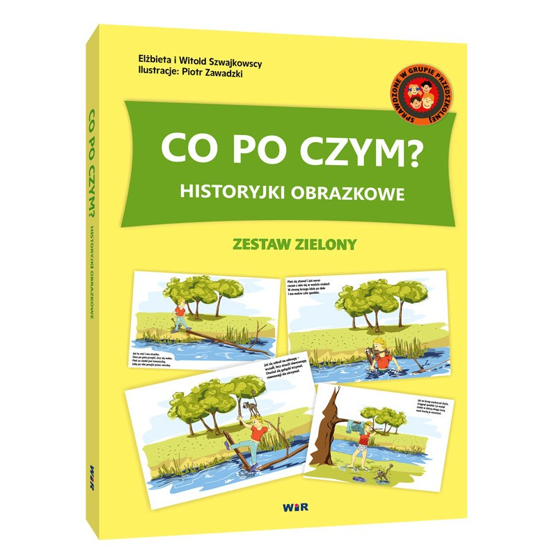 istoryjki obrazkowe - Co po czym (zestaw zielony)