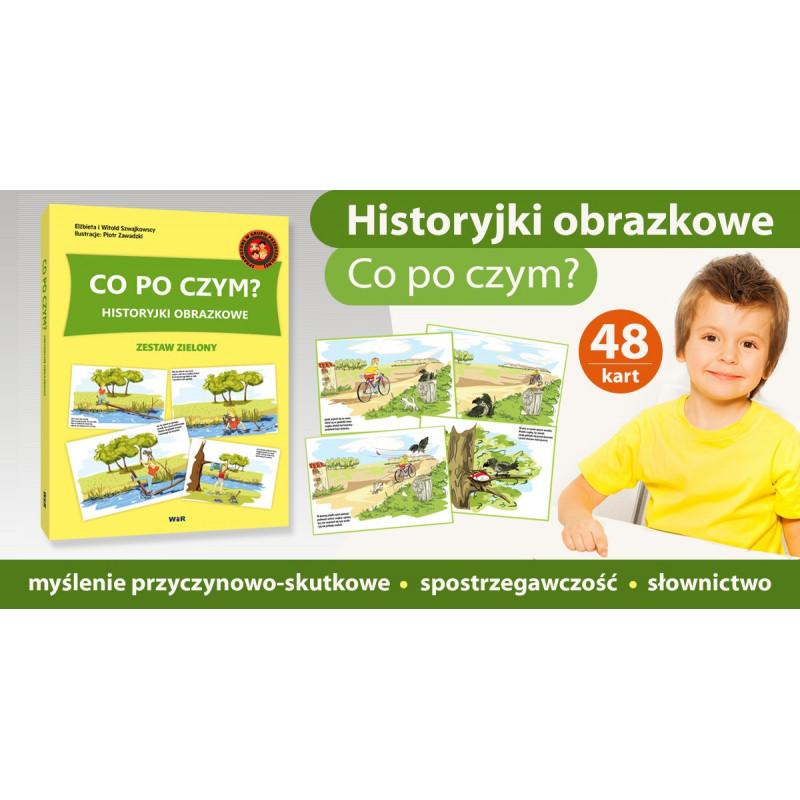 Historyjki obrazkowe - Co po czym (zestaw zielony)