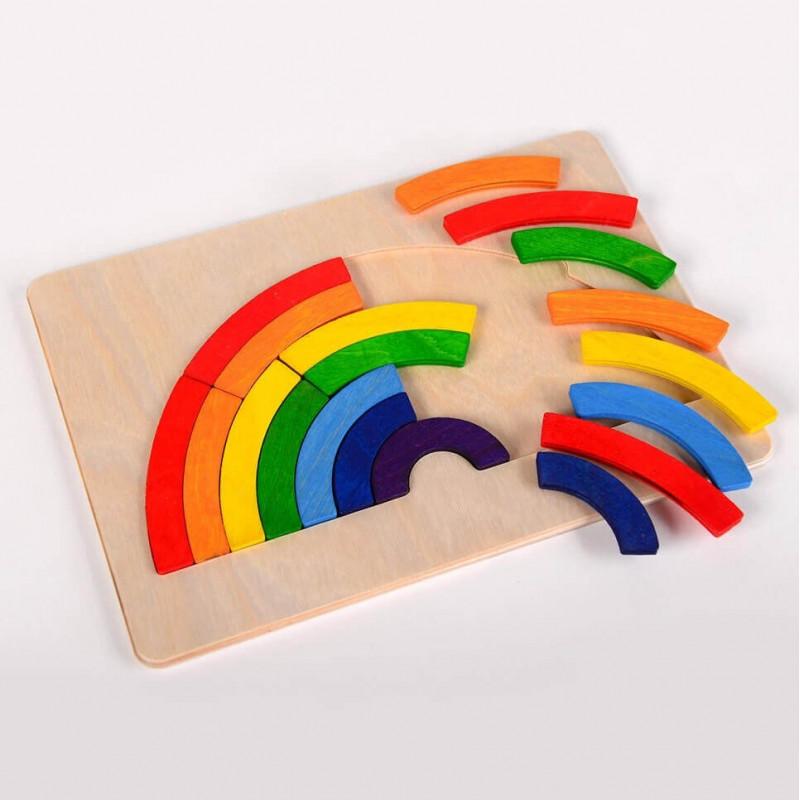 Pomoc, kreatywna zabawka, puzzle Tęcza