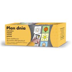 Plan dnia - Szkoła. Kalendarz, pogoda, uczucia, pytania. Pomoc komunikacyjna dla uczniów szkół specjalnych