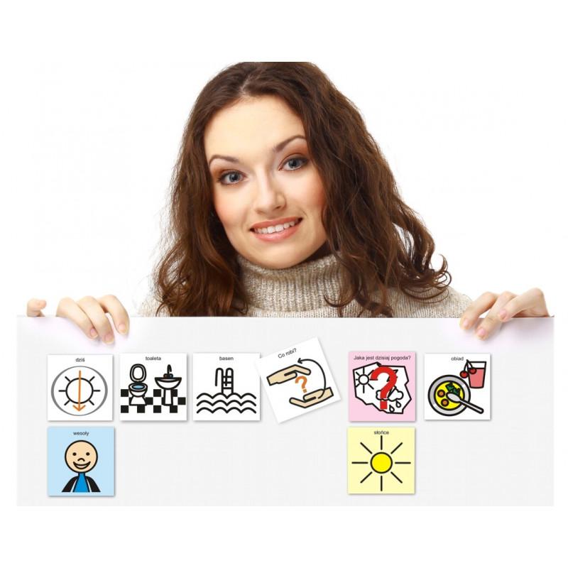 Plan dnia - kalendarz, pogoda, uczucia, pytania. Pomoc komunikacyjna dla uczniów szkół specjalnych