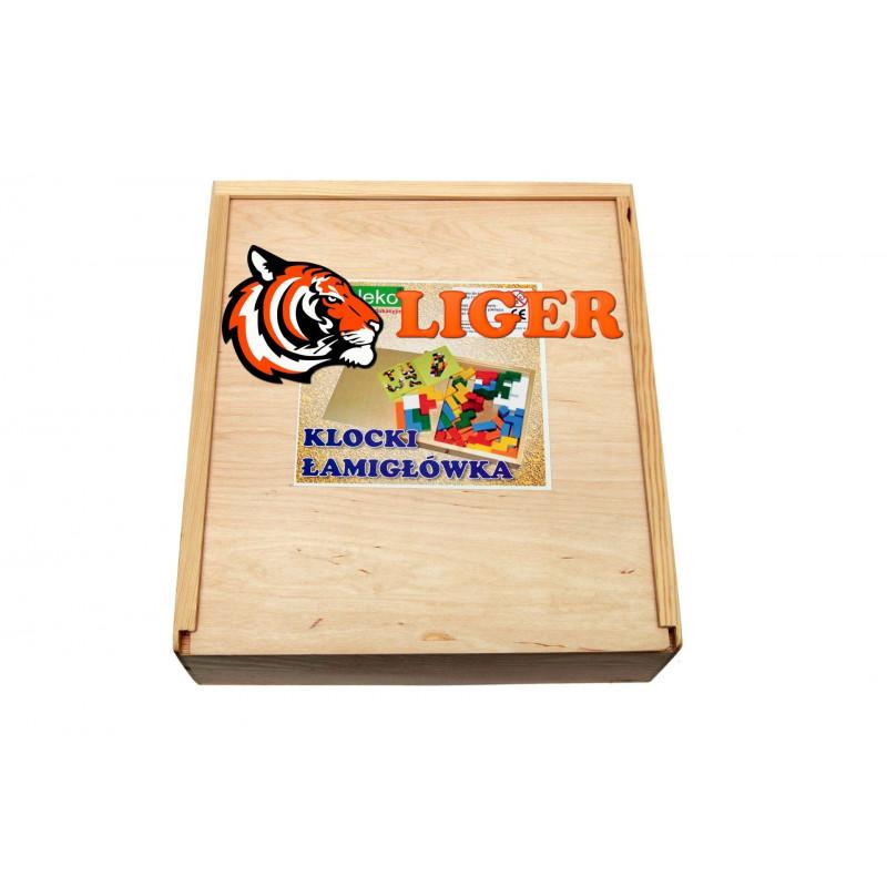 Drewniane kreatywne klocki Łamigłówka. Pomoc dydaktyczna dla przedszkolaków