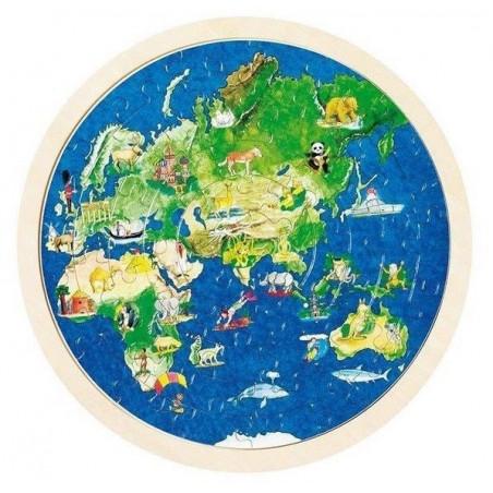 Edukacyjne puzzle - Mapa Świata 100 elementów