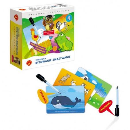 Gra edukacyjna Zwierzątka. Rysowanie - zmazywanie