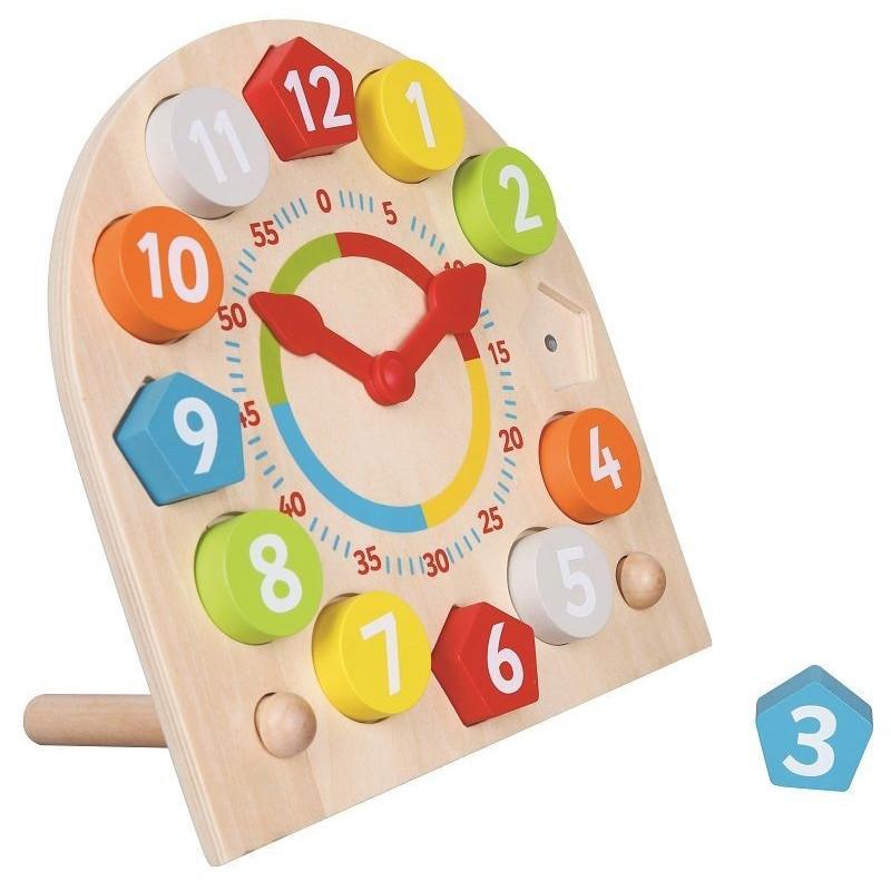 Zegar z wyjmowanymi klockami