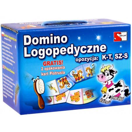 Domino Logopedyczne SZ, S, K, T