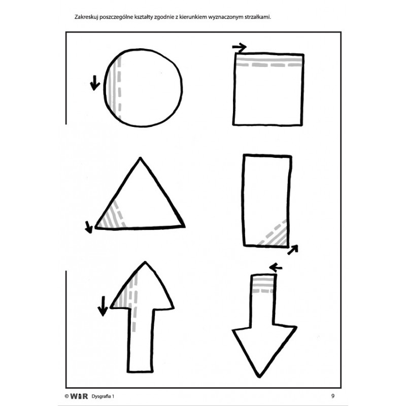 Dysgrafia. Ćwiczenia usprawniające motorykę małą - Poziom 1