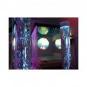 Zestaw dwóch kolumn wodnych 10x120 cm z automatyczną zmianą koloru