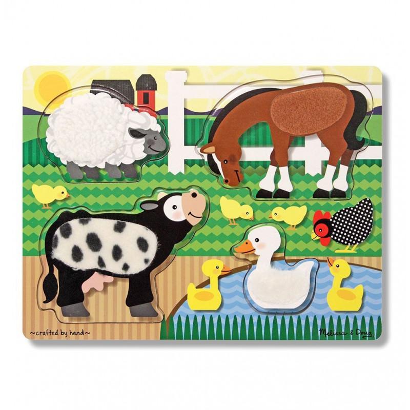 Puzzle zmysłowe dotknij i poczuj Farma