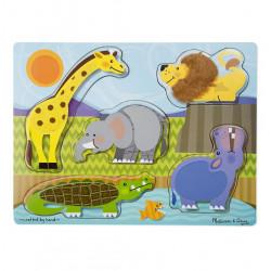 Puzzle zmysłowe dotknij i poczuj Zoo