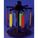 Fluorescencyjne dzwonki na obracanym stojaku