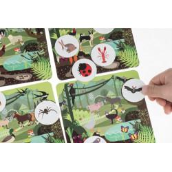 Loteryjka - Zwierzęta leśne i wiejskie. Gra edukacyjna i rozwojowa