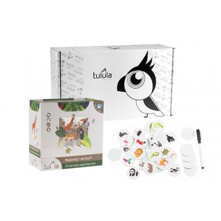 Gra logopedyczna i edukacyjna Nazwij i wrzuć - Zestaw zwierzęta świata