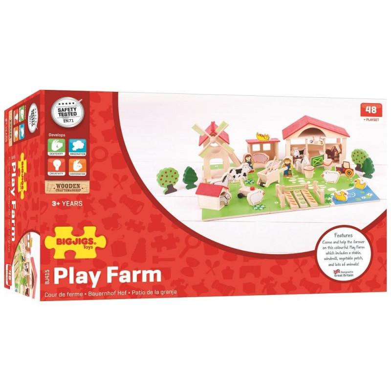 Drewniana układanka przestrzenna - farma