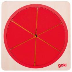 Puzzle koło do nauki ułamków