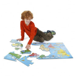 Puzzle podłogowe - mapa świata