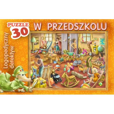 Logopedyczny detektyw w przedszkolu - puzzle logopedyczne