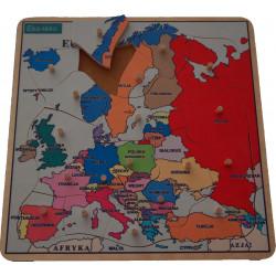 Układanka - Mapa Europy. Puzzle