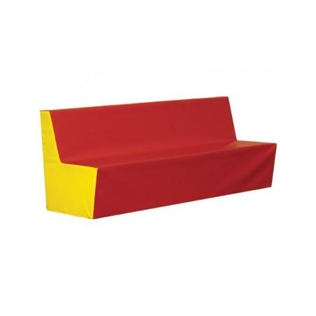 Prosta kanapa skaj 120 cm