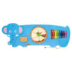 Sensoryczny panel ścienny Krokodyl - pomoc i układanka manipulacyjna i zręcznościowa