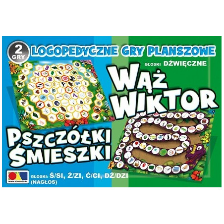 Gry logopedyczne - Wąż Wiktor / Pszczółki śmieszki