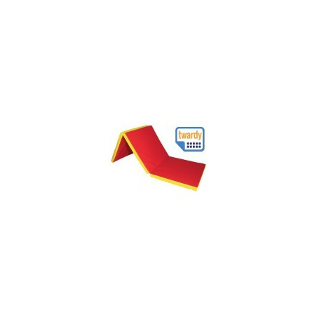 Materac 3x składany twardy 180/60/5 cm
