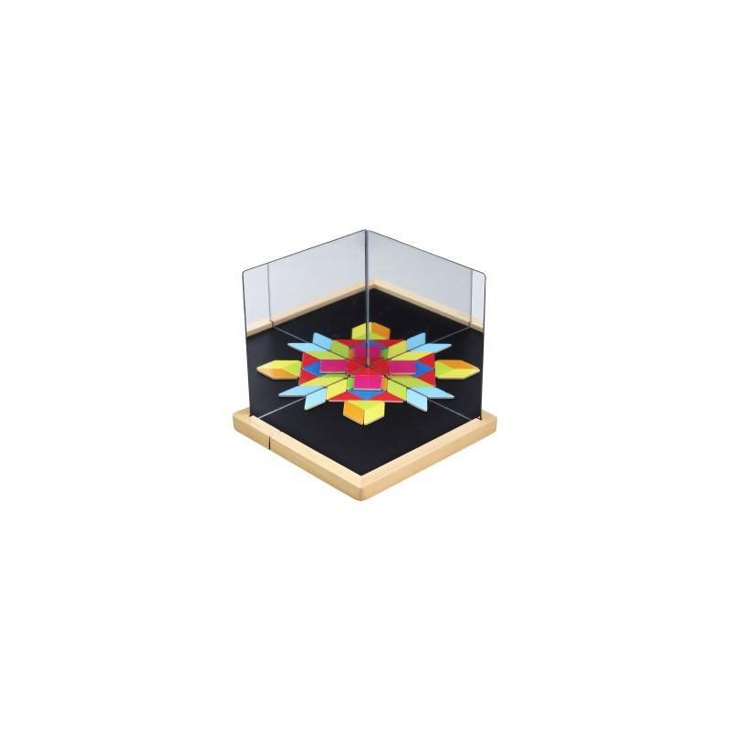 Magnetyczna układanka z lustrami